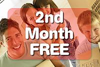 2nd Month Free